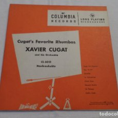 Discos de vinilo: XAVIER CUGAT - CUGAT'S FAVORITE RHUMBAS (10 PULGADAS). Lote 128021051
