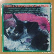 Discos de vinilo: VARIOS - CANTO A LA REVOLUCION DE OCTUBRE - LP. Lote 128033820