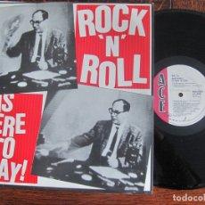Discos de vinilo: ROCK´N´ROLL IS HERE TO STAY . VARIOS ROCKABILLY-BLUES. ACE.. Lote 127831223