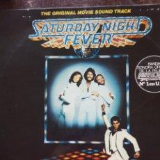 Discos de vinilo: BEE GEES Y VARIOS. SATURDAY NIGHT FEVER. DOBLE LP. RSO. 1977. Lote 128067396
