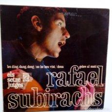 Discos de vinilo: RAFAEL SUBIRACHS (ELS SETZE JUTGES) – LES DING, DANG, DONG – EP SPAIN 1967 + ENCARTE- EXC. ESTADO.. Lote 128078543