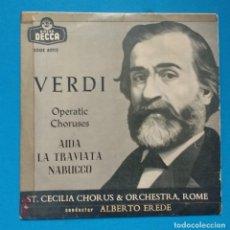 Discos de vinilo: VERDI ( AIDA / LA TRAVIATA / NABUCCO ). Lote 128094423