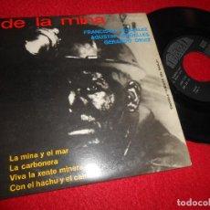 Discos de vinilo: CANCIONES DE LA MINA FRANCISCO GONZALEZ+GERARDO ORVIZ+AGUSTIN ARGUELLES EP 1972 IBERIA ASTURIAS. Lote 128098579
