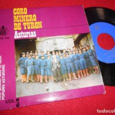 Discos de vinilo: CORO MINERO DE TURON ASTURIAS ALBORADA ASTURIANA +2 EP 1963 HISPAVOX MINA POPULAR TRADICIONAL. Lote 128098951