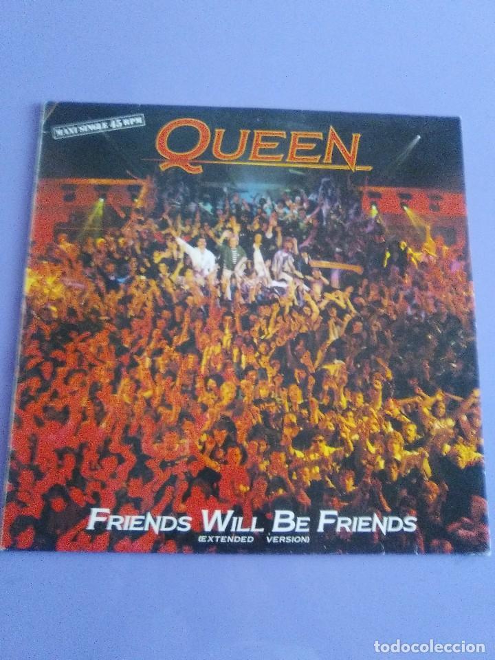 QUEEN ( FRIEND WILL BE FRIENDS ) MAXI SINGLE (Música - Discos de Vinilo - Maxi Singles - Pop - Rock Extranjero de los 70)