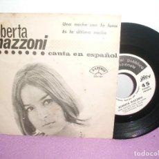 Discos de vinilo: ROBERTA MAZZONI - UNA NOCHE CON LUNA + ES LA ÚLTIMA NOCHA / ZAFIRO JOLLY PROMO . Lote 128123435