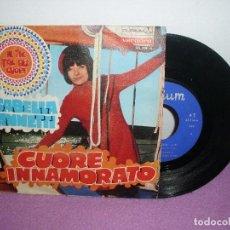 Discos de vinilo: ISABELLA IANETTI - CUORE INNAMORATO + IL TIC TAC DEL CUORE / DURIUM VERGARA - AÑO 1969. Lote 128123499