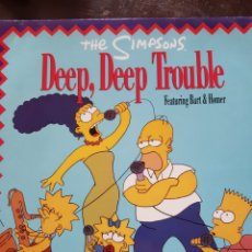 Discos de vinilo: THE SIMPSONS. DEEP, DEEP TROUBLE. MAXISINGLE. GEFFEN. 1990. Lote 128126494