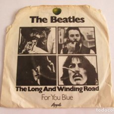 Discos de vinilo: THE BEATLES - THE LONG AND WINDING ROAD - FOR YOU BLUE - SINGLE VINILO - APPLE. Lote 128128707