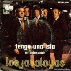 Discos de vinilo: LOS JAVALOYAS TENGO UNA ISLA SINGLE AÑO 1973. Lote 128129695