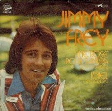 Discos de vinilo: JIMMY FREY UNE ROSE POUR SANDRA SINGLE AÑO 1972. Lote 128130491