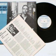 Discos de vinilo: LP - PETER LA FARGE IRON MOUNTAIN & OTHER SONGS (FOLKWAYS, 1983) - INCLUYE INSERTO CON LETRAS. Lote 128133243