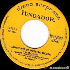 Discos de vinilo: FUNDADOR 10.124 - LOS PUMAS / LOS PEKENIKES – CANCIONES DE NUESTRO TIEMPO - EP 1967. Lote 128145163