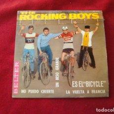 Discos de vinilo: THE ROCKING BOYS UN BESO GRANDE - NO PUEDO CREERTE - ES EL BICYCLE LA VUELTA A FRANCIA BELTER 1966. Lote 128145415