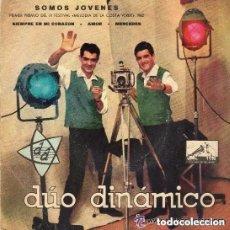Discos de vinilo: DÚO DINÁMICO - SOMOS JÓVENES - EP LA VOZ DE SU AMO SPAIN 1962. Lote 128148851