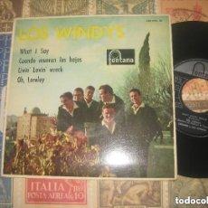 Discos de vinilo: LOS WINDYS EP (FONTANA 1963) OG ESPAÑA WHAT I SAY/ CUANDO MUERAN LAS HOJAS/ EXCELENTE CONDICION. Lote 128158559