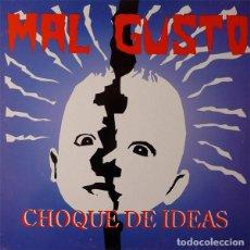 Discos de vinilo: MAL GUSTO CHOQUE DE IDEAS LP . PUNK ROCK HARDCORE BABY HORROR MISFITS 7 SECONDS. Lote 128159447