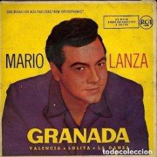 Discos de vinilo: MARIO LANZA CON ORQUESTA DIRIGIDA POR RAY SINATRA – GRANADA - EP SPAIN 1958. Lote 128161727