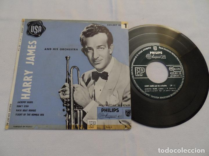 HARRY JAMES - JACKPOT BLUES +3 (USA 1955) (Música - Discos de Vinilo - EPs - Jazz, Jazz-Rock, Blues y R&B)