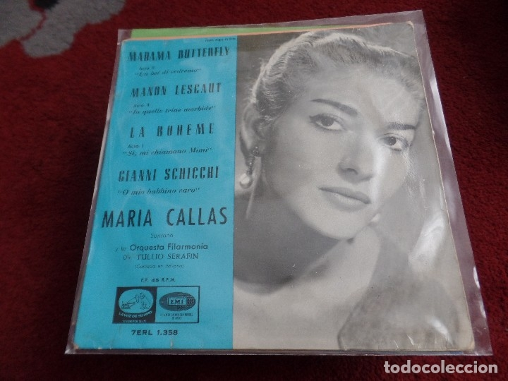 MARÍA CALLAS (Música - Discos - Singles Vinilo - Clásica, Ópera, Zarzuela y Marchas)