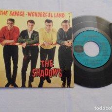 Discos de vinilo: THE SHADOWS - THE SAVAGE +3 (FRANCE 1962). Lote 128164099