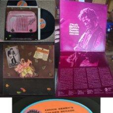 Discos de vinilo: CHUCK BERRY - GOLDEN DECADE 1955-1965 !! 24 TEMAS, DOBLE LP, SUPER ORG EDT USA CHESS RECORDS, EX !!!. Lote 128168655