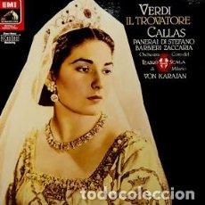 Discos de vinilo: VERDI - IL TROVATORE - KARAJAN - CALLAS - LA SCALA - EMI - BOX - CAJA 2 LPS CON LIBRETO - UNICO EN T. Lote 128174847
