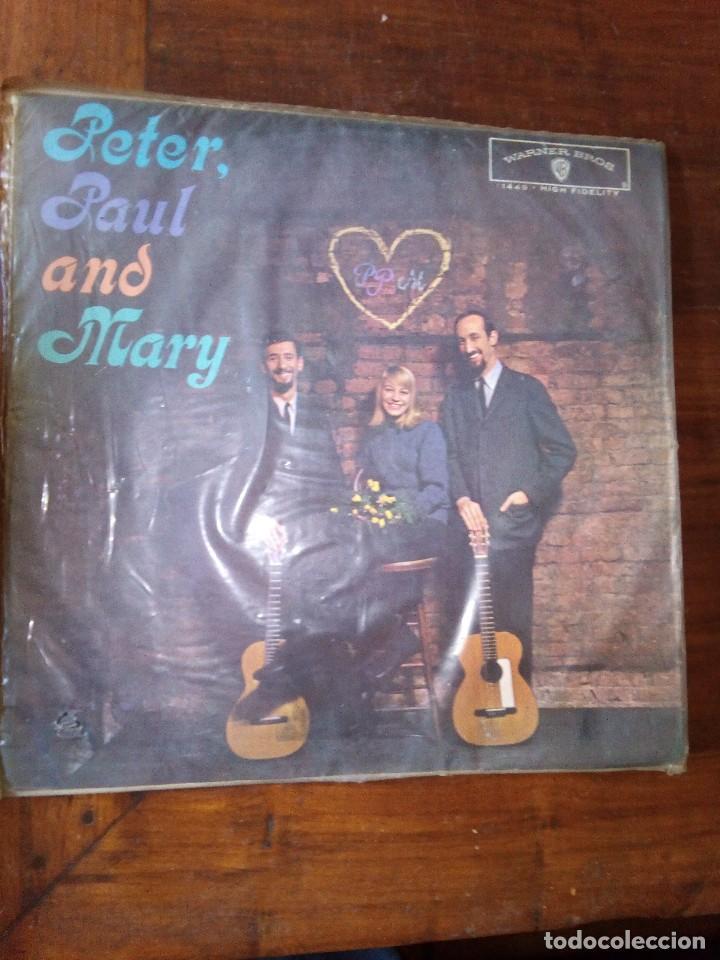 PETER, PAUL AND MARY1962 PETER, PAUL E MARY, PRIMER LP,EDICIÒN BRASIL (Música - Discos - LP Vinilo - Pop - Rock Internacional de los 50 y 60)