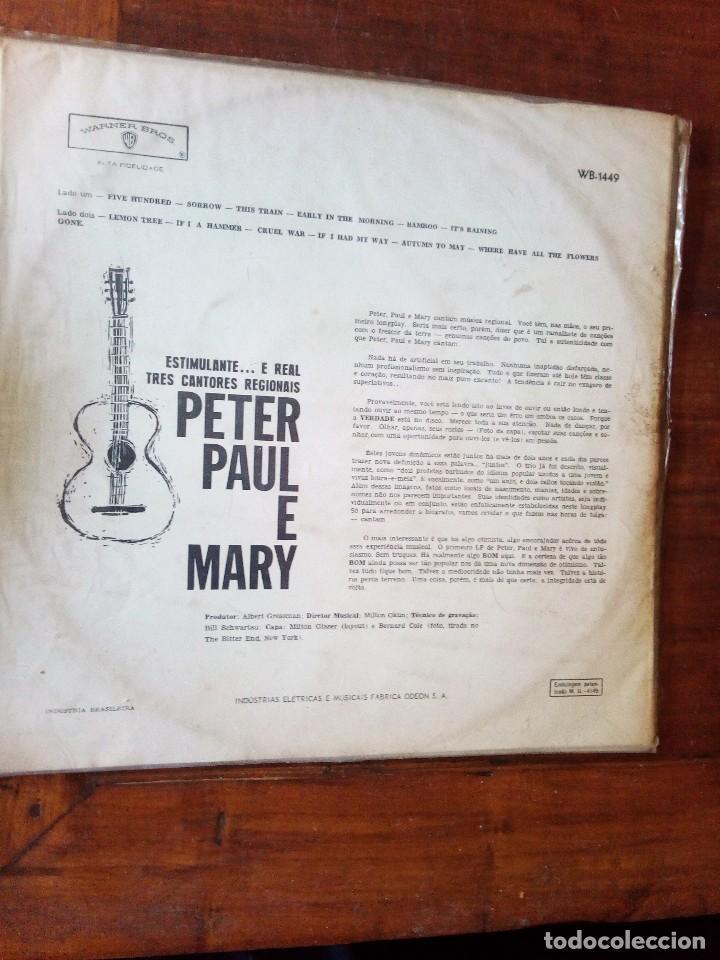 Discos de vinilo: Peter, Paul and Mary1962 Peter, Paul e Mary, primer LP,ediciòn Brasil - Foto 2 - 128175055