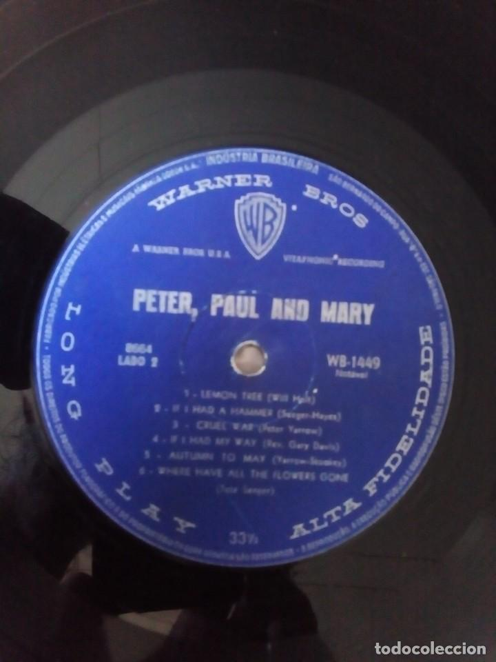 Discos de vinilo: Peter, Paul and Mary1962 Peter, Paul e Mary, primer LP,ediciòn Brasil - Foto 3 - 128175055