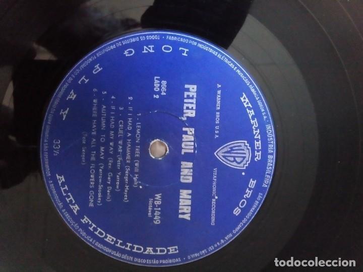Discos de vinilo: Peter, Paul and Mary1962 Peter, Paul e Mary, primer LP,ediciòn Brasil - Foto 4 - 128175055