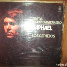 Discos de vinilo: RECITAL HISPANOAMERICANO RAPHAEL Y LOS GEMELOS ( PERU ) MATACUERVOS // PALOMA NEGRA )). Lote 128175379