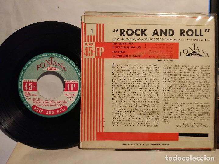 Discos de vinilo: HENRI SALVADOR alias HENRY GORDING ROCK AND ROLL MOPS FRANCES - Foto 2 - 128176787