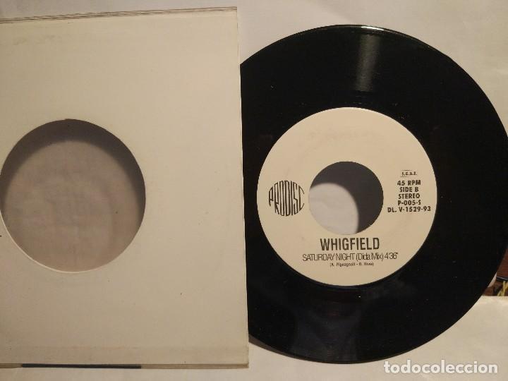 WHIGFIELD SINGLE PROMOCIONAL PRESS PRESSING HECHO EN HECHO EN ITALIA DE SU PRIMER GRAN ÉXITO SATURD (Música - Discos - Singles Vinilo - Disco y Dance)