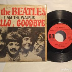 Discos de vinilo: THE BEATLES HELLO GOODBYE + I AM THE WALRUS SINGLE FRANCÉS . Lote 128185635