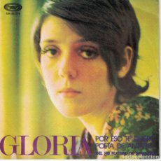 Disques de vinyle: GLORIA - POR ESO TE QUIERO / POETA DE ANTAÑO (SINGLE ESPAÑOL, MOVIEPLAY 1971). Lote 128207687