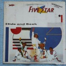 Discos de vinilo: FIVE STAR,HIDE AND SEEK EDICION ESPAÑOLA DEL 84. Lote 128214175