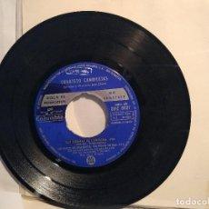 Discos de vinilo: CUARTETO CANDILEJAS EP PROMOCIONAL 1966 LAS PIERNAS DE CAROLINA + 3 TEMAS. Lote 128223983