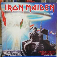 Discos de vinilo: IRON MAIDEN. 2 MINUTES TO MIDNIGHT. EMI 1984, REF. 052 2002896.MAXI-SINGLE. Lote 128225607