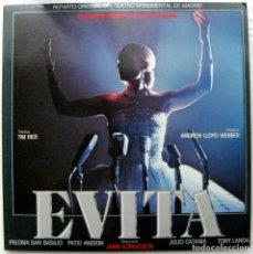 Discos de vinilo: EVITA - WEBBER/RICE - EN ESPAÑOL (PALOMA SAN BASILIO) - DOBLE LP EPIC 1980 BPY. Lote 128236863