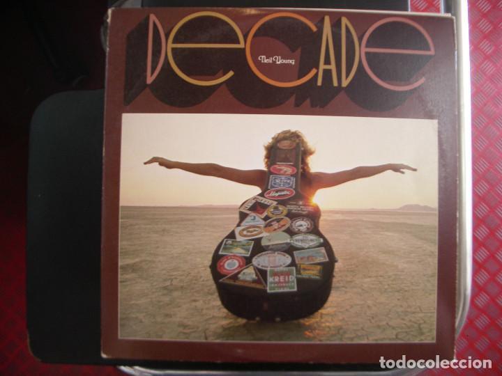 NEIL YOUNG- DECADE. TRIPLE LP. (Música - Discos - LP Vinilo - Pop - Rock - Extranjero de los 70)
