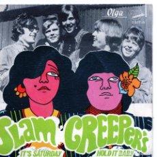 Discos de vinilo: SLAM CREEPERS IT S SATURDAY HOLD IT BAY EXIT RECORDS PROMOCION PROMO . Lote 128253715