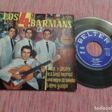 Discos de vinilo: LOS 4 BARMANS – JOTA Y JOTERO +3. Lote 128257243