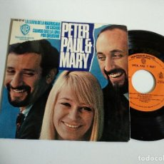 Discos de vinilo: EP-PETER PAUL & MARY-LA LLUVIA DE LA MADRUGADA-1965-SPAIN-. Lote 128262655