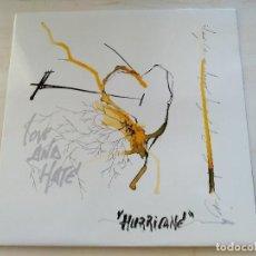 Disques de vinyle: LOVE & HATE (BANDA GRANADINA) - HURRICANE. LP. 1993. NUEVO A ESTRENAR. TNT 091. Lote 222336727