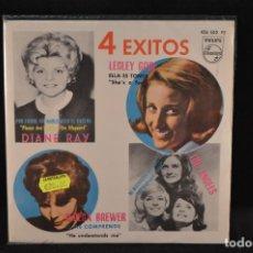 Discos de vinilo: 4 EXITOS - DIANE RAY/LESLEY GORE/TERESA BREWER/THE ANGELS - EP . Lote 128264583