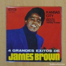 Discos de vinilo: JAMES BROWN - KANSAS CITY + 3 - EP. Lote 128269042