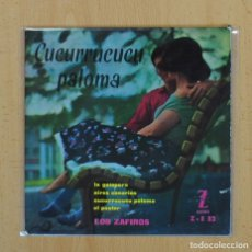 Discos de vinilo: LOS ZAFIROS - CUCURRUCUCU PALOMA + 3 - EP. Lote 128269484