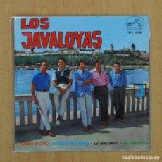 Discos de vinilo: LOS JAVALOYAS - PARADISE OF LOVE + 3 - EP. Lote 128270286