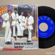 Discos de vinilo: SINGLE VINILO LOS GRITOS. CUIDADO CON LAS SEÑORAS / TUSET STREET (BELTER 1968). Lote 128270963